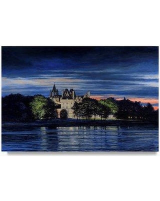 """Trademark Art 'One Summer Night' Oil Painting Print on Wrapped Canvas ALI21259-C Size: 12"""" H x 19"""" W"""