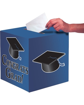 Don T Miss This Deal Blue Graduation Card Box Party Decorations