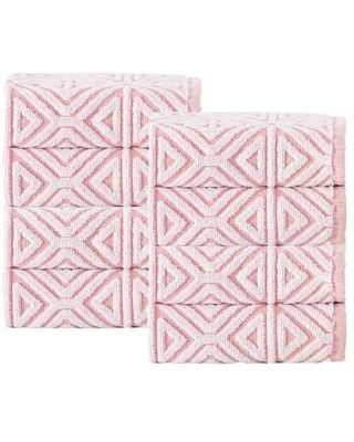 Enchante Home - Glamour Wash Towels - 8 Piece Wash Towels, long staple Turkish towel - Quick Dry, Soft, Absorbent