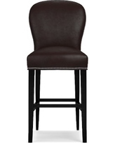 Maxwell Bar Stool w/Out Handle Tuscan Leather Solid Chocolate Polished Nickel