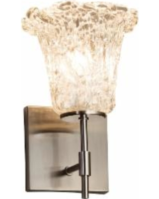 Justice Design Group Veneto Luce 9 Inch Wall Sconce - GLA-8411-20-LACE-NCKL