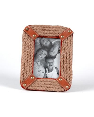 """Wilco Home Rope Picture Frame 69-2803 / 69-2804 Picture Size: 4"""" x 6"""""""
