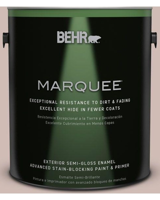 BEHR MARQUEE 1 gal. #N150-2 Smokey Pink Semi-Gloss Enamel Exterior Paint and Primer in One