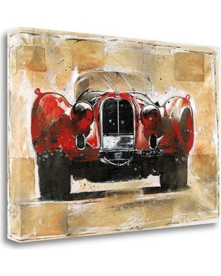 "Tangletown Fine Art 'Vintage Red' Graphic Art Print on Wrapped Canvas CAWMP106-2416c Size: 23"" H x 34"" W"