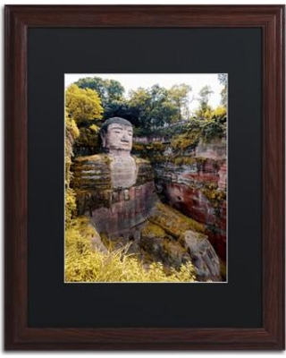 "Trademark Art ""Giant Buddha II"" by Philippe Hugonnard Framed Photographic Print PH0392-W1 Size: 14"" H x 11"" W x 0.5"" D Matte Color: Black"