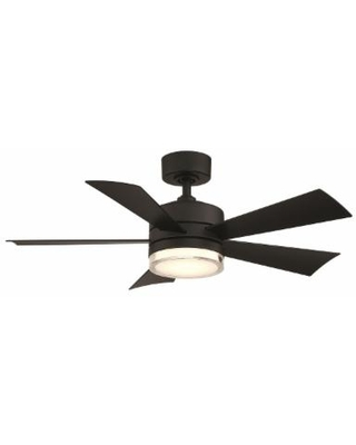 Modern Forms Wynd Outdoor Rated 42 Inch Ceiling Fan with Light Kit - FR-W1801-42L-35-MB
