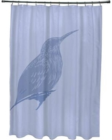 Rosecliff Heights Falkirk Print Shower Curtain ROHE5498 Color: Cornflower