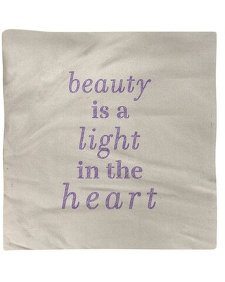 """Handwritten Beauty Inspirational Quote Napkin East Urban Home Color: White/Purple, Size: 22"""" L x 22"""" W, Material: Polyester"""