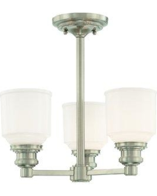 Latitude Run Carnahan 3 - Light Shaded Classic / Traditional Chandelier MUES4512 Finish: Satin Nickel