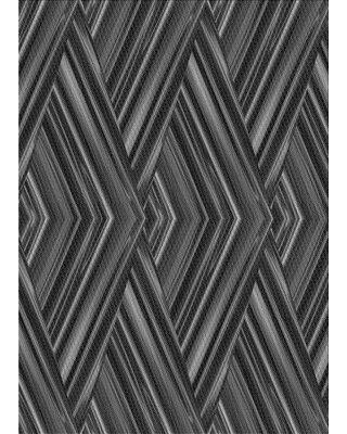 East Urban Home Abstract Wool Gray Area Rug X113616175 Rug Size: Rectangle 2' x 4'