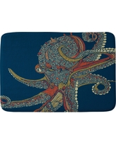 "Valentina Ramos Azzuli Octopus Cushion Bath Mat (36""x24"") Blue - Deny Designs"