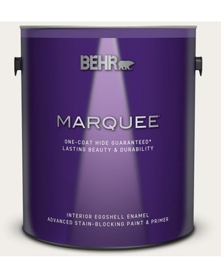 BEHR MARQUEE 1 gal. #W-F-610 White Fur Eggshell Enamel Interior Paint and Primer in One