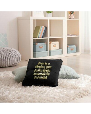 """East Urban Home Love Is A Choice Throw Pillow EBJZ8467 Size: 26"""" H x 26"""" W Color: Yellow"""
