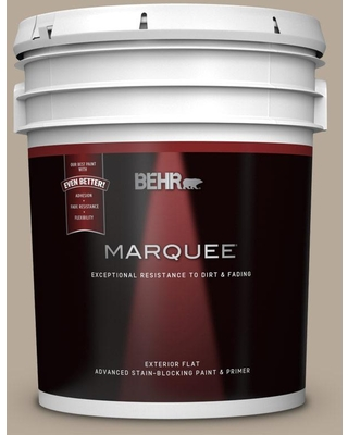 BEHR MARQUEE 5 gal. #MQ2-20 Safari Chic Flat Exterior Paint and Primer in One