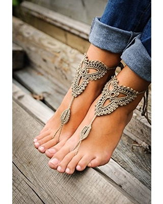 c656f0ff3f50eb Sweet Spring Deals on Crochet Tan Barefoot Sandals