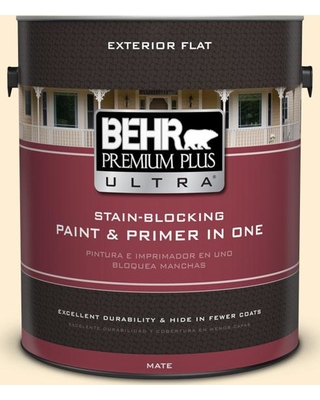 Amazing Deal On Behr Ultra 1 Gal Yl W03 Honied White Flat Exterior Paint And Primer In One