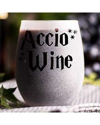 Accio Wine - Stemless Wine Glass - Gift For Her - Geek Gift For Girl - Gift Idea for Women - Bridesmaid Wedding Party Favor