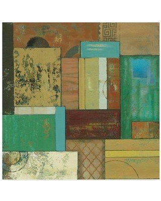 """East Urban Home 'Fossil Infusion IV' Acrylic Painting Print on Wrapped Canvas W000188834 Size: 18"""" H x 18"""" W x 2"""" D"""