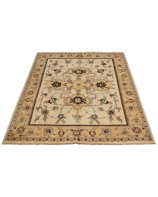 """One-of-a-Kind Micaden Hand-Knotted 2010s Chobi Beige/Brown 8'10"""" x 11'10"""" Wool Area Rug"""