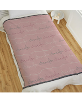 Modern Girl Name Personalized 56x60 Woven Throw Blanket