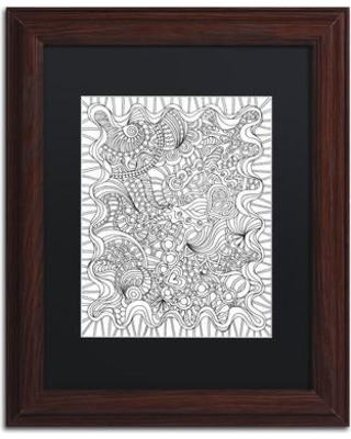 """Trademark Art """"Mixed Coloring Book 43"""" by Kathy G. Ahrens Framed Graphic Art ALI3468-W1 Size: 14"""" H x 11"""" W x 0.5"""" D Matte Color: Black"""