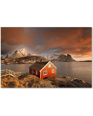 "Alcott Hill Good morning Lofoten Photographic Print on Wrapped Canvas ALCT6384 Size: 22"" H x 32"" W x 2"" D"