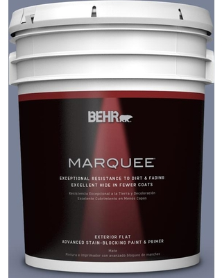 BEHR MARQUEE 5 gal. #PPU15-07 Tranquil Pond Flat Exterior Paint and Primer in One
