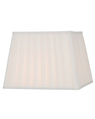 """11"""" H Silk/Shantung Square Lamp shade ( Spider ) Winston Porter Color: Off White"""