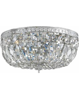 Crystorama Ceiling Mount 16 Inch 3 Light Flush Mount - 716-CH-CL-MWP