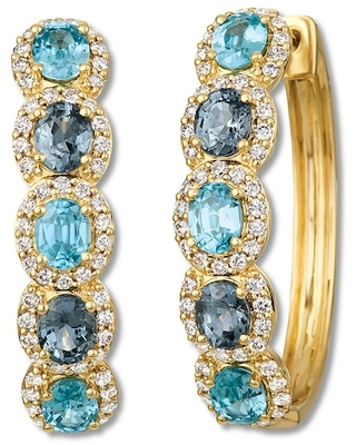 Le Vian Spinel & Zircon Earrings 1 cttw Diamonds 14K Honey Gold