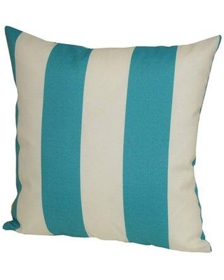 """Longshore Tides Lucas Indoor/Outdoor Striped Throw Pillow X113933606 Color: Turquoise Size: 24"""" x 24"""""""