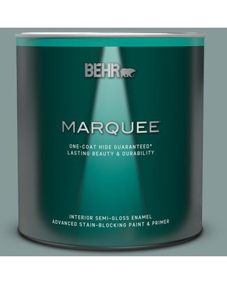 BEHR MARQUEE 1 qt. #490F-5 Cloud Burst Semi-Gloss Enamel Interior Paint and Primer in One