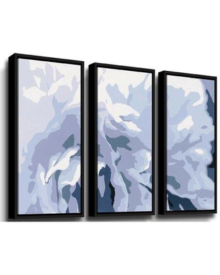 """Wrought Studio 'Peony Delight' Print Multi-Piece Image on Canvas W001344600 Size: 24"""" H x 36"""" W x 2"""" D Format: Floater Framed"""