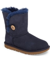 Toddler Girl's Ugg Bailey Button Ii Water Resistant Genuine Shearling Boot, Size 7 M - Blue