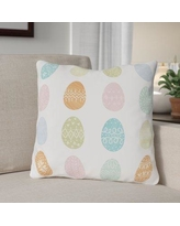 """The Holiday Aisle Egg Hunt Throw Pillow THLA1410 Size: 18"""" H x 18"""" W x 3"""" D"""