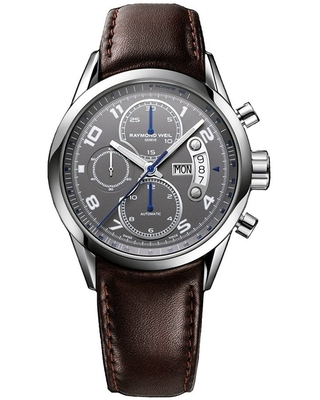 Raymond Weil Men's 7730-STC-05600 'Freelancer' Chronograph Automatic Brown Leather Watch