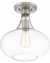 """Possini Euro Cecil 11"""" Wide Brushed Nickel Ceiling Light"""
