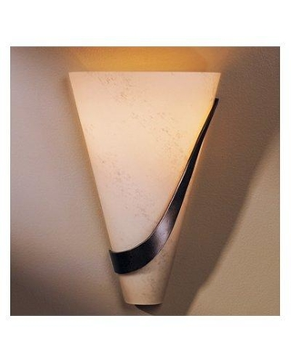 Hubbardton Forge 1-Light Flush Mount 206563L Finish: Bronze Shade Color: Opal Position: Right