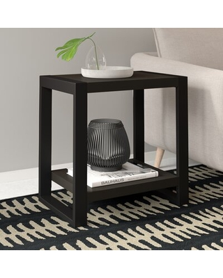 Special Prices On Theodulus Sled End Table With Storage Mercury Row Table Top Color Charcoal
