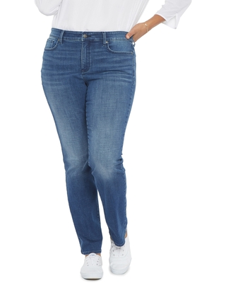 NYDJ Marilyn Straight Leg Jeans, Size 16W in Hera at Nordstrom