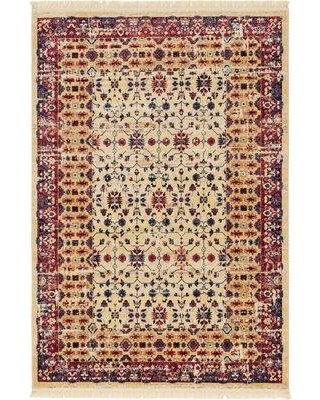 World Menagerie Rumsey Beige Area Rug WRME3065 Rug Size: Rectangle 6' x 9'