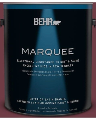BEHR MARQUEE 1 gal. #bxc-90 Wild Cranberry Satin Enamel Exterior Paint and Primer in One