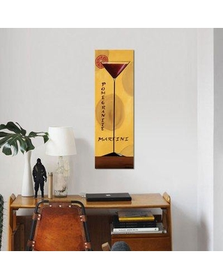 """East Urban Home 'Pomegranate Martini' Graphic Art Print on Wrapped Canvas ERBS6976 Size: 36"""" H x 12"""" W x 1.5"""" D"""