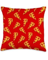 Pizza Playground Delicious Pizza Slice Pattern Throw Pillow, 16x16, Multicolor