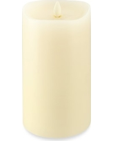 "Ivory Flickered Flameless Candle, 4"" X 7"""