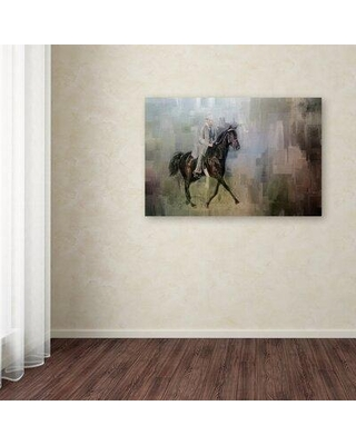 """Trademark Fine Art 'Stepping Out' Graphic Art Print on Wrapped Canvas ALI14992-C Size: 12"""" H x 19"""" W"""