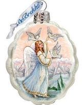 The Holiday Aisle Doves Angel Shaped Ornament THLY6780