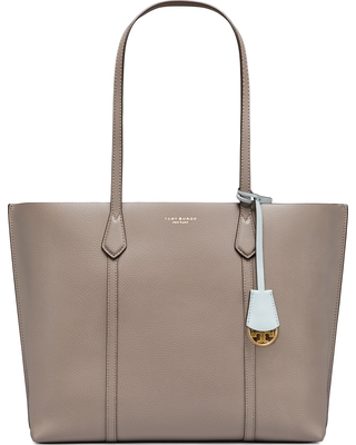 29ed008eb7e Amazing Deal on Tory Burch Perry Triple Compartment Leather Tote - Grey