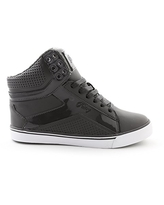 Pastry Pop Tart Grid Adult Dance Sneakers, Charcoal, Size 5