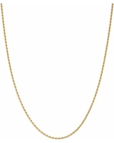"""""""Junior Jewels Kids' Sterling Silver Rope Chain Necklace, Girl's, Size: 13"""", Yellow"""""""
